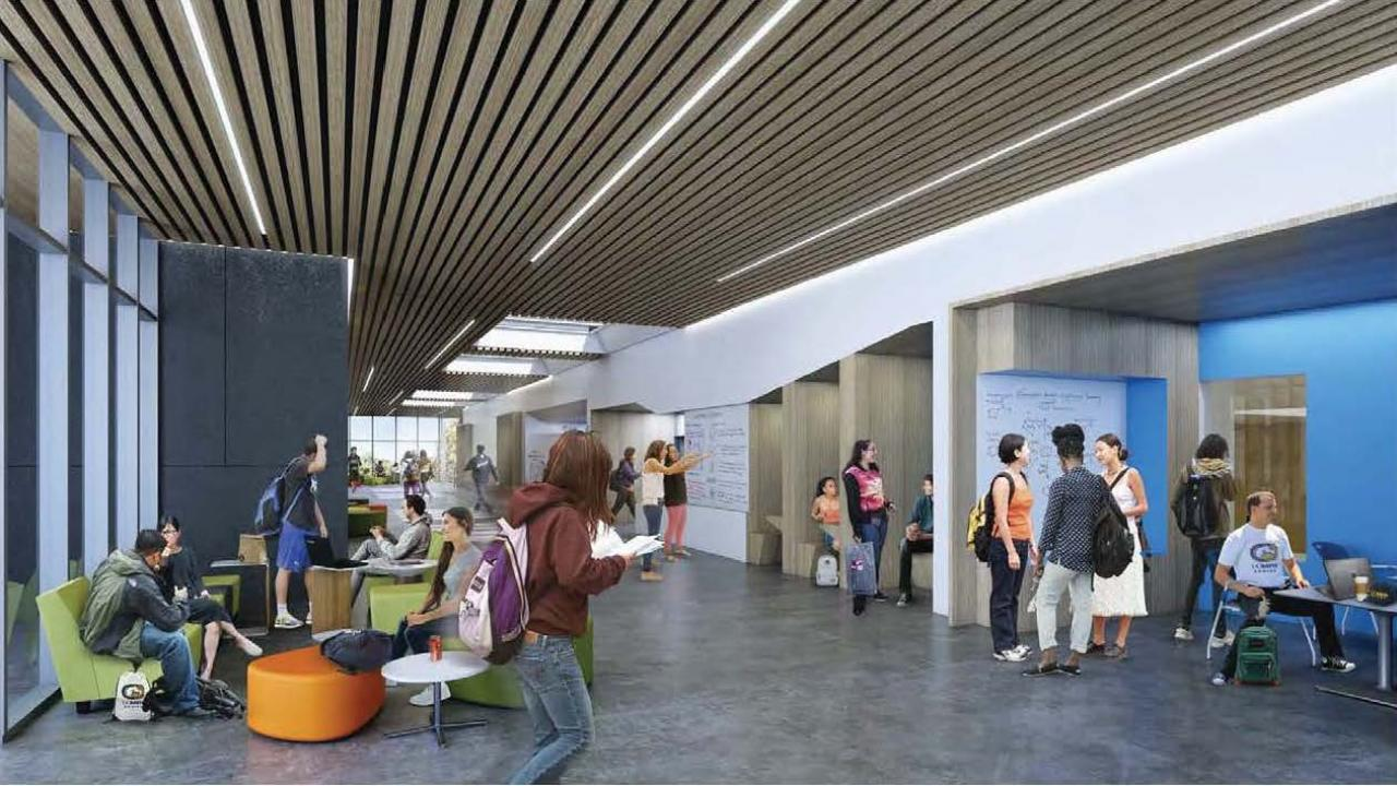 Design rendering of interior of planned UC Davis Teaching & Learning Complex