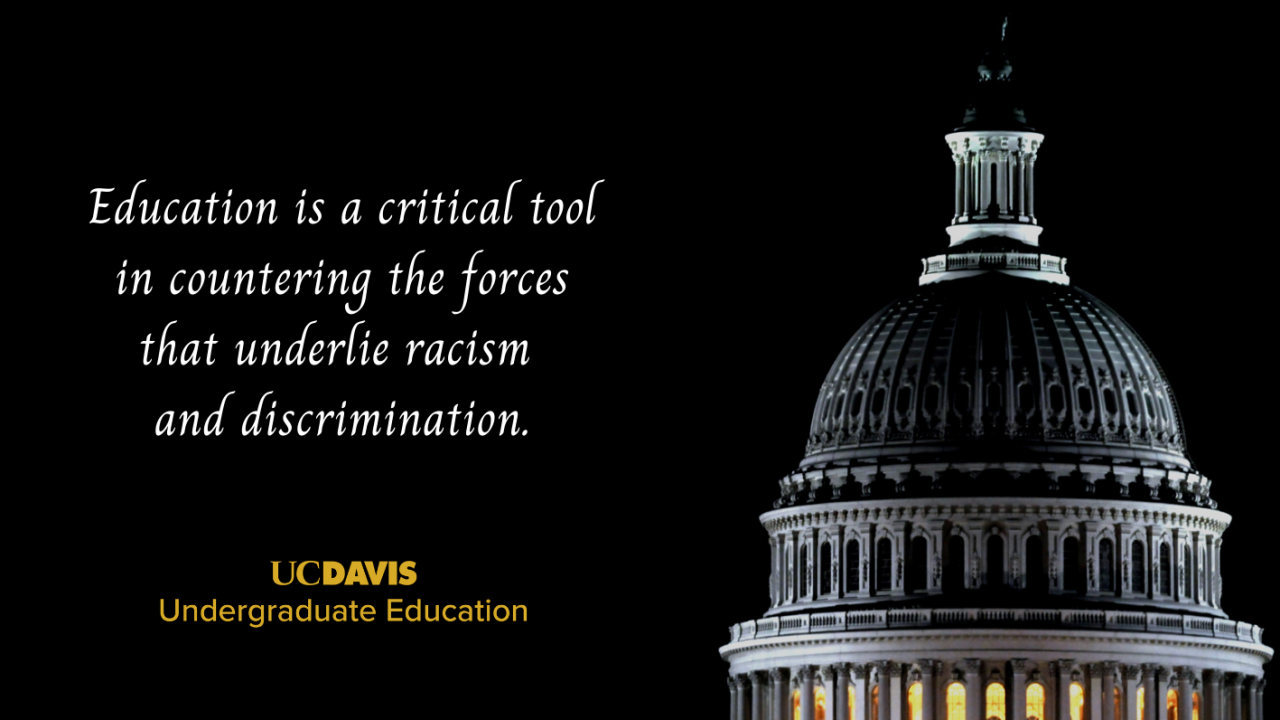 Education is a critical tool in countering the forces that underlie racism and discrimination.